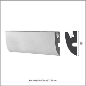 Tesori LED sierlijst voor indirecte verlichting XPS, KD303 (65x40 mm), lengte 1,15 m