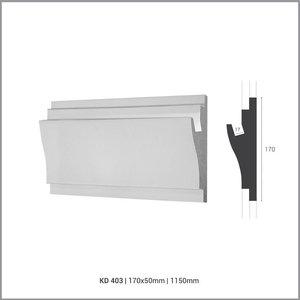 Tesori LED sierlijst voor indirecte verlichting XPS, KD403 (170 x 50 mm), lengte 1,15 m - Verzonken / Semi-Verzonken
