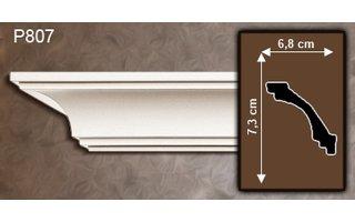 Grand Decor Kroonlijst P807 (73 x 68 mm), polyurethaan, lengte 2 m