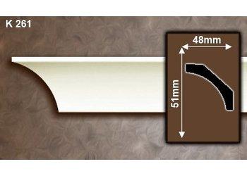 Grand Decor Kroonlijst K261 (51 x 48 mm), polyurethaan, lengte 2 m