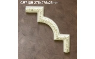 Grand Decor CR710B hoekbochten (275 x 275 mm), polyurethaan, set (4 hoeken)