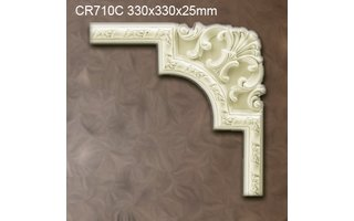 Grand Decor CR710C hoekbochten (330 x 330 mm), polyurethaan, set (4 hoeken)