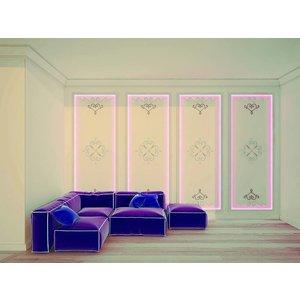 Art Décor Ornamenten A698 polyurethaan wand, plafond (set à 2 stuks)