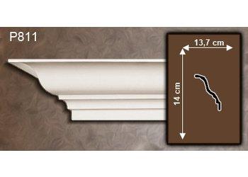 Grand Decor Kroonlijst P811 (140 x 137 mm), polyurethaan, lengte 2 m