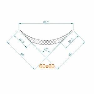 NMC Nomastyl Pure NE2 (60 x6 0 mm), lengte 2 m