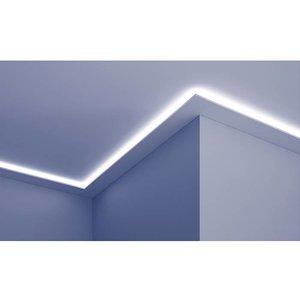 Grand Decor Polyurethaan - LED sierlijst voor indirecte verlichting, KF504 (102 x 25 mm), lengte 2 m