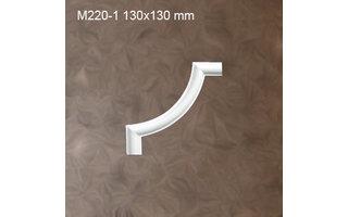 Grand Decor M220-1 hoekbochten (130 x 130 mm), polyurethaan, set (4 hoeken)
