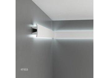 Grand Decor Polyurethaan - LED sierlijst voor indirecte verlichting, KF503 (100 x 45 mm), lengte 2 m