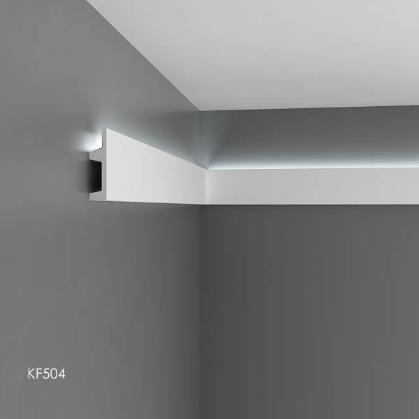 grand decor polyurethaan led sierlijst voor indirecte verlichting kf504 102 x 25 mm lengte 2 m