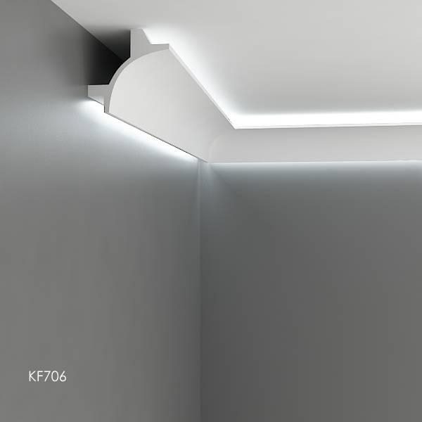 grand decor polyurethaan led sierlijst voor indirecte verlichting kf706 115 x 115 mm lengte 2 m