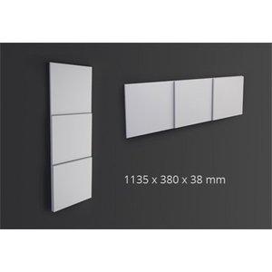 NMC 3D Wallpanel / Wandpaneel Domino Polyurethaan (1135 x 380 x 38 mm)