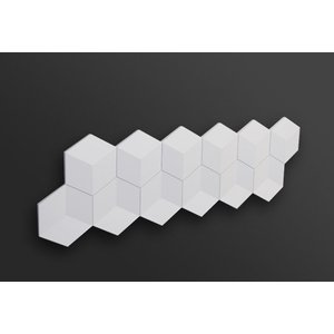NMC 3D Wallpanel / Wandpaneel Cube Polyurethaan (1135 x 350 x 24 mm)