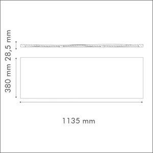 NMC 3D Wallpanel / Wandpaneel Liquid Polyurethaan (1135 x 380 x 28.5 mm)