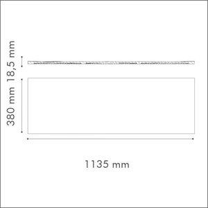 NMC 3D Wallpanel / Wandpaneel Wave Polyurethaan (1135 x 380 x 18.5 mm)