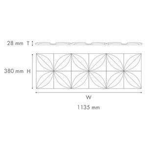 NMC 3D Wallpanel / Wandpaneel Flower Polyurethaan Flower (1135 x 380 x 28 mm)