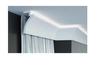 Grand Decor KF801 (120 x 60 mm), lengte 2 m, PU - LED sierlijst voor indirecte verlichting