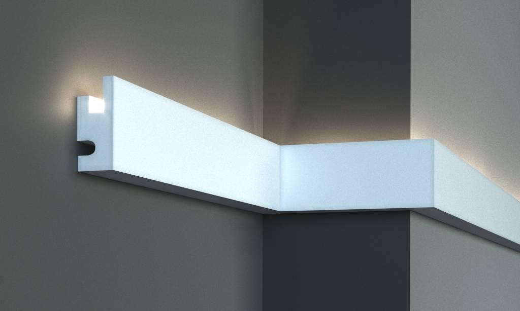 Tesori led sierlijst voor indirecte verlichting xps kd301 for Plafond sierlijst