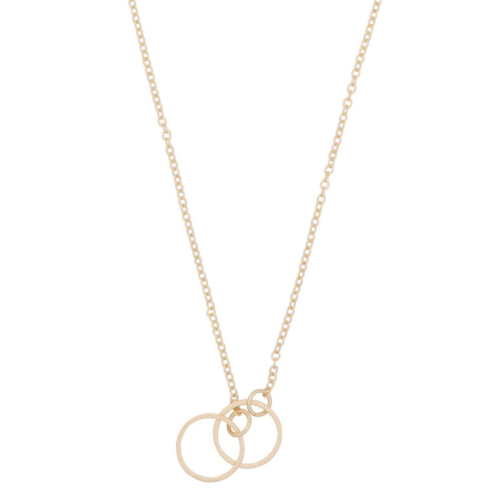 Club Manhattan Chain Linked Circle necklace