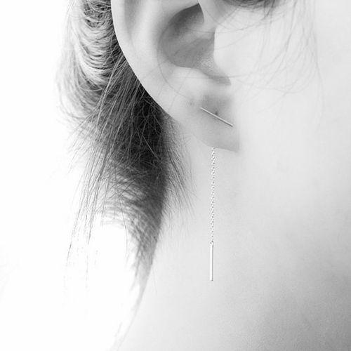 Lange oorbellen zilver
