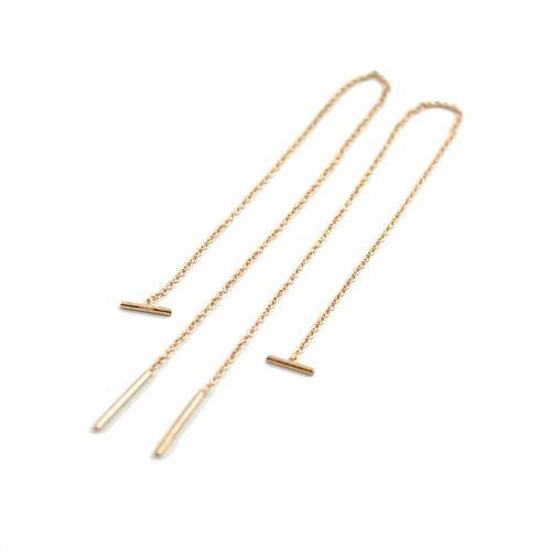 Lunai Jewelry Lange oorbellen goud