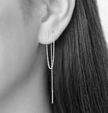 Lange oorbellen goud