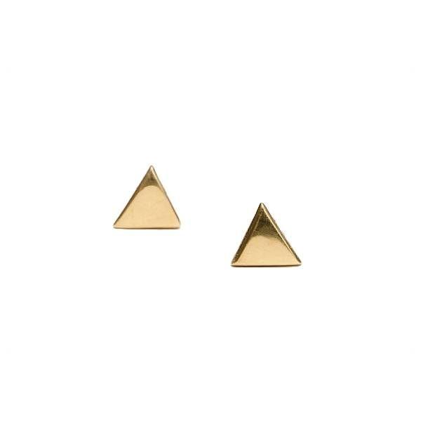 Oh So HIP Oorbellen triangle goud