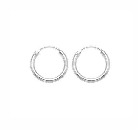 Mini oorringen zilver 8 mm