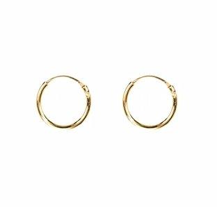 Mini oorringen goud 8 mm