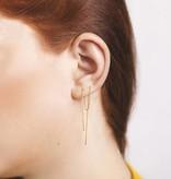 Lunai Jewelry Lange oorbellen zilver