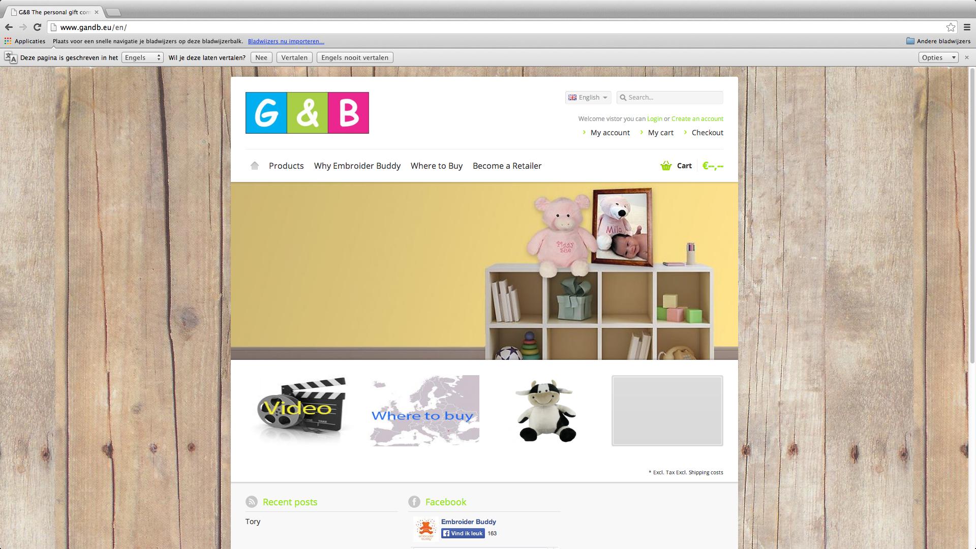 Website www.gandb.eu