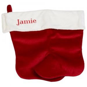 Embroiderable christmas stocking