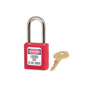 Master Lock Zenex safety padlock red 410RED - 410KARED