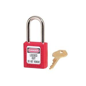 Master Lock Zenex veiligheidshangslot rood 410RED - 410KARED