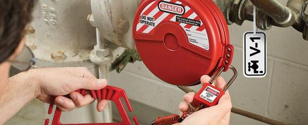 Locking device for valves