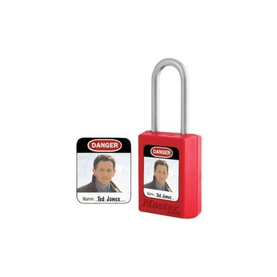 Padlock Sticker with photo (6 psc)