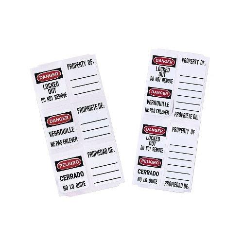 Vorhängeschloss-Etiketten