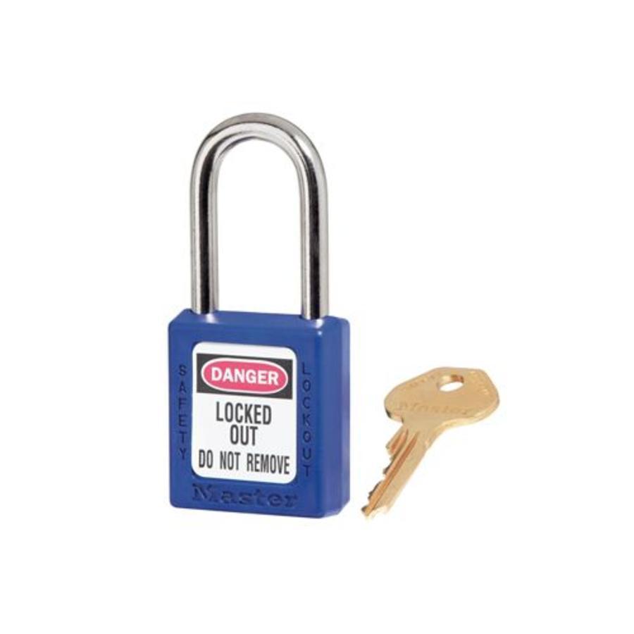 Zenex veiligheidshangslot blauw 410BLU - 410KABLU