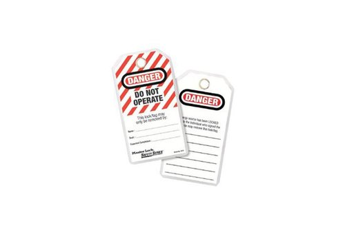Laminated lock-out tags 497A