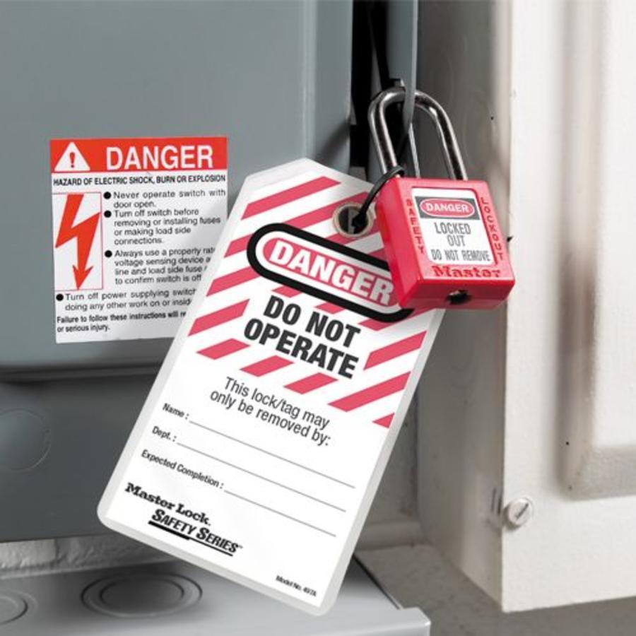 Gelamineerde lockout-tags (12 stuks) 497A