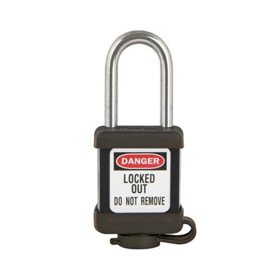 Zenex safety padlock black 410BLK - 410KABLK