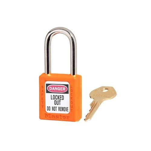 Zenex Sicherheits-vorhängeschloss orange 410ORJ