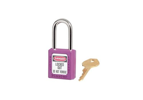 Zenex safety padlock purple 410PRP