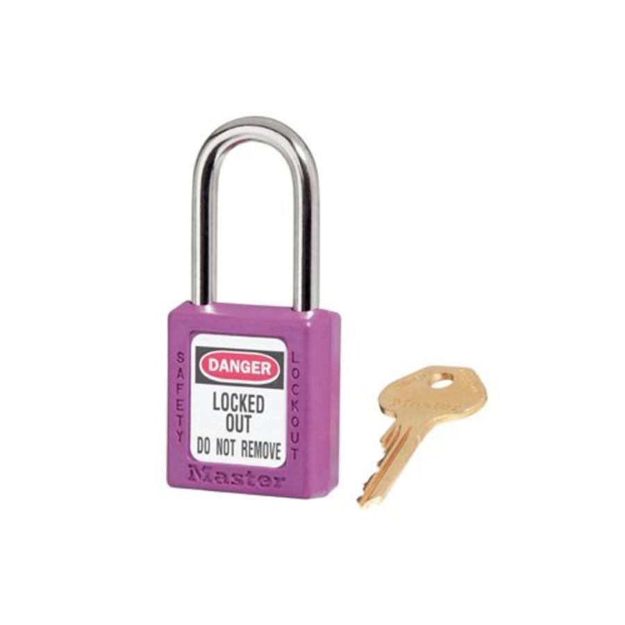 Zenex Sicherheits-vorhängeschloss lila 410PRP - 410KAPRP