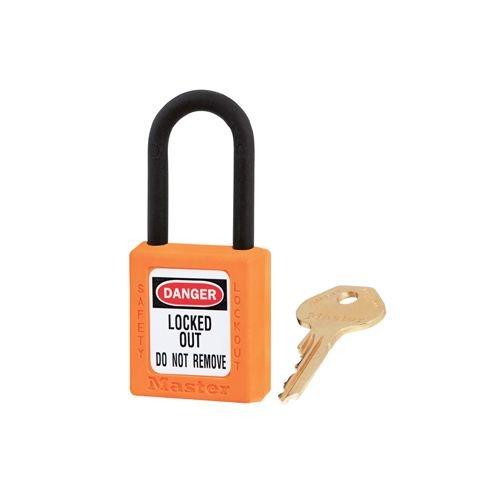 Zenex safety padlock orange 406ORJ