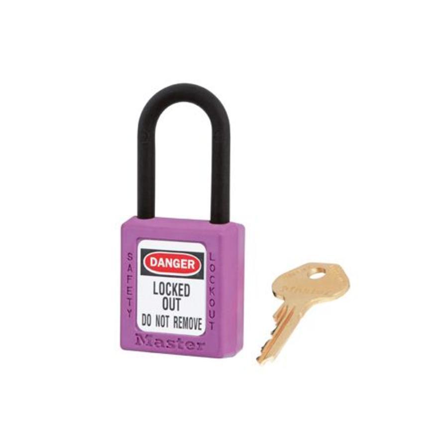 Zenex veiligheidshangslot paars 406PRP - 406KAPRP