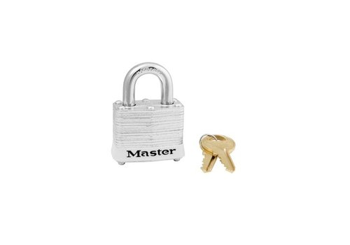 Laminated steel padlock white 3WHT