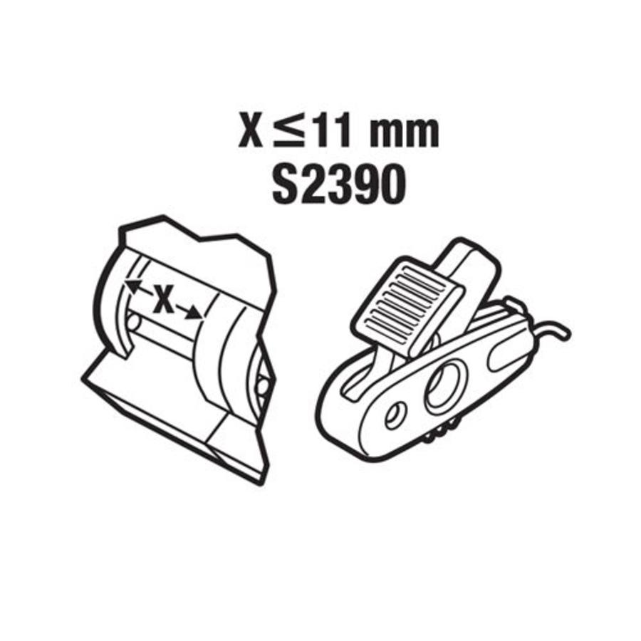Vergrendeling voor stroomonderbrekers < 11mm S2390