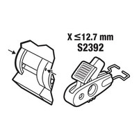 Vergrendeling voor stroomonderbrekers < 12,7mm S2392