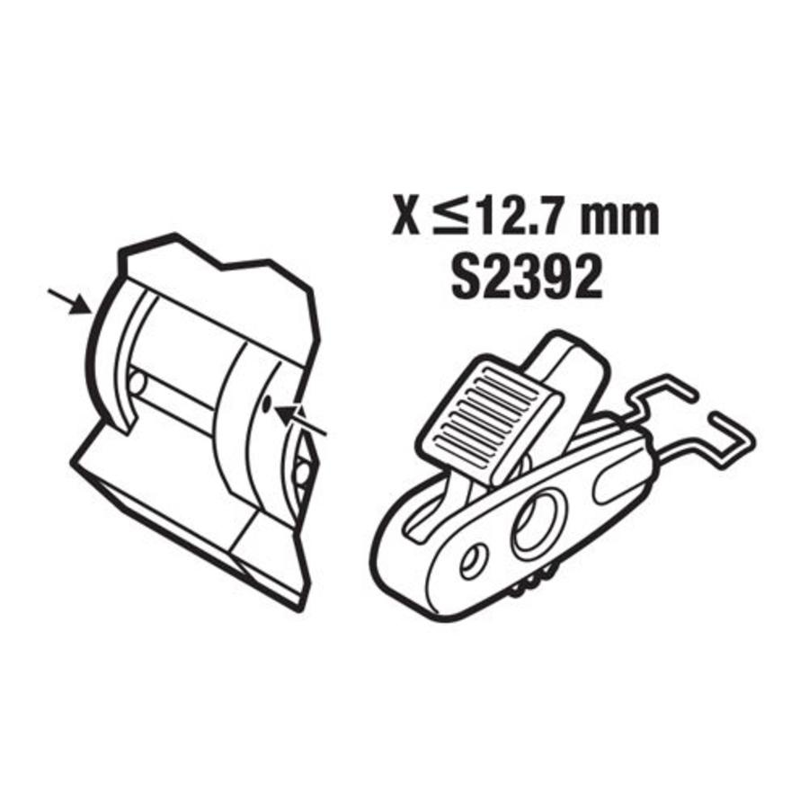 Circuit breaker lock-out < 12.7mm S2392