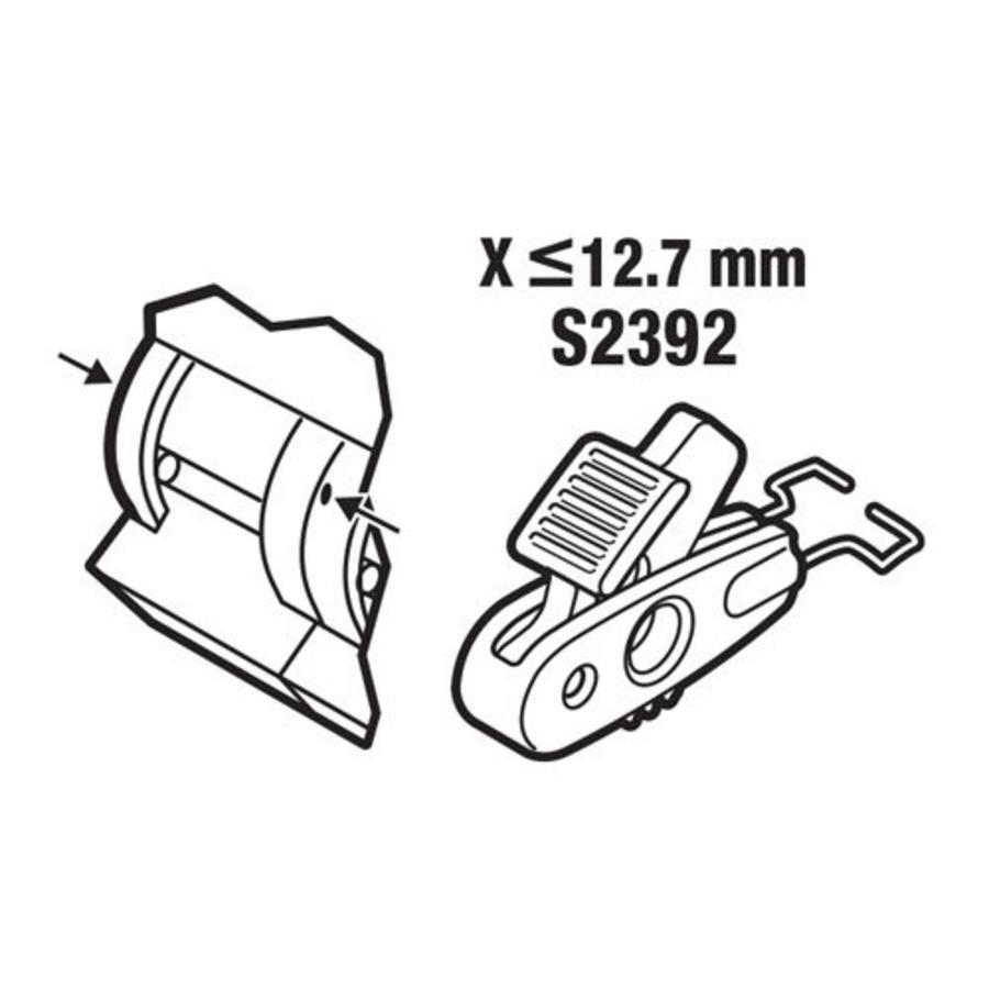 Leitungsschultzschalter-Verriegelung < 12,7mm S2392
